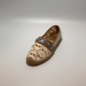 Tory Burch espadrille flats with jewels size 7M